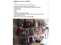 Basement Retail area to rent within children's shoe shop bearsden