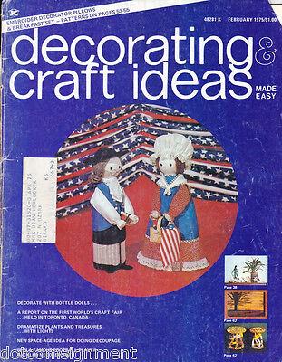 Decorating & Craft Ideas Made Easy Magazine Feb 1975 ~ Multi-Crafts Hip Mod
