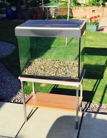 Fisk Tank with custom made steel framed stand
