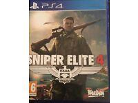 PS4 game sniper elite 4