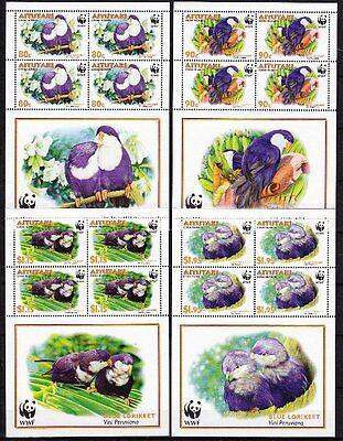 Aitutaki 2002 Mi.Nr. 772-75 Kleinbogen WWF ** Vögel 28,-- EUR
