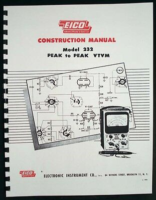 Eico 232 Peak-to-peak Vtvm Construction Manual