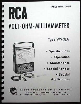 Rca Voltohmyst Wv-38a Vom Multimeter Manual