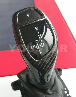 Premium GUNUINE CARBON Shifter Trim for BMW F22 F30 F32 F10 F12 F01 F15 X5 X6