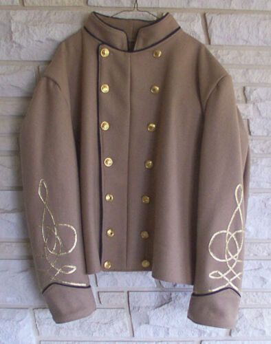 Confederate Officers Shell Jacket, Butternut, Civil War