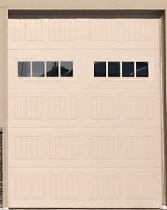 Garage door (10 ft high x 8 ft wide)