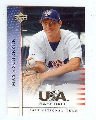 MAX SCHERZER Nationals 2005 UD USA Baseball National Team ROOKIE Card #56 -