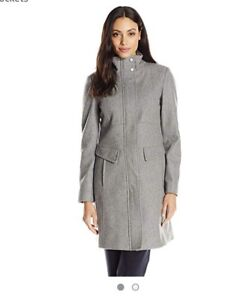 Kenneth coal women's wool coat GREY SZ 4