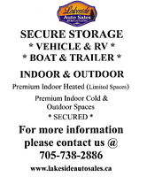SECURE PREMIUM VEHICLE / RV / BOAT STORAGE