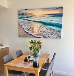 Massive sunrise ocean printed canvas