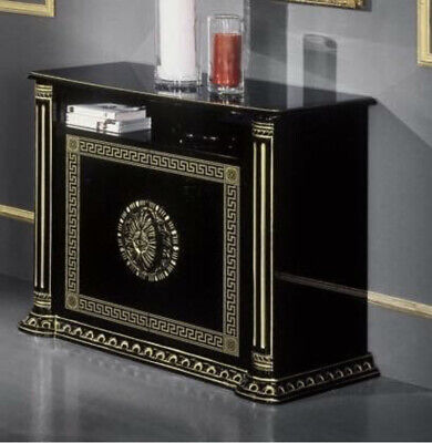 VERSACE ROSELLA ITALIAN HIGH GLOSS BLACK & GOLD TV UNIT