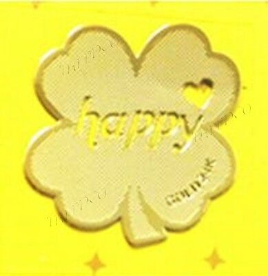 TPD 24K Gold Plated Anti Radiation Block Shield Cell Phone Sticker Happy Clover