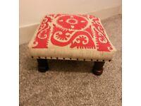 Vintage retro foot stool chair seat chaise legs sofa £25