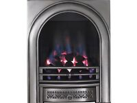 Focal Point Arch Chrome Gas Fire, like new condition