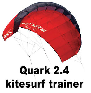 FLEXIFOIL-QUARK-2-4m-KITE-KITESURF-TRAINER-3-Line-Safety-System-and-Chicken-Loop