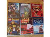 Collection of dvds including lego