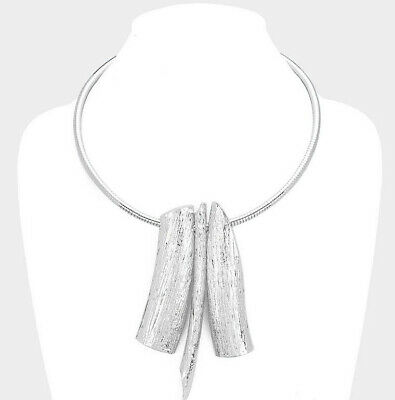 MARNI H&M Textured Metal Choker Necklace
