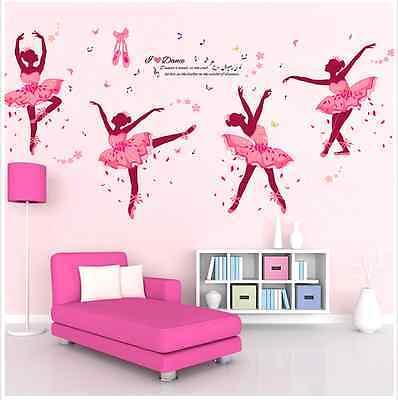 Removable Ballerina Dacing Girl Wall Sticker Vinyl Decal Room Home Mural Decor