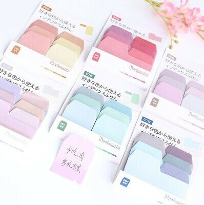60 Pages Paper Sticky Notes Memo Pad Bookmark Sticker Notepad 6 Pc Set