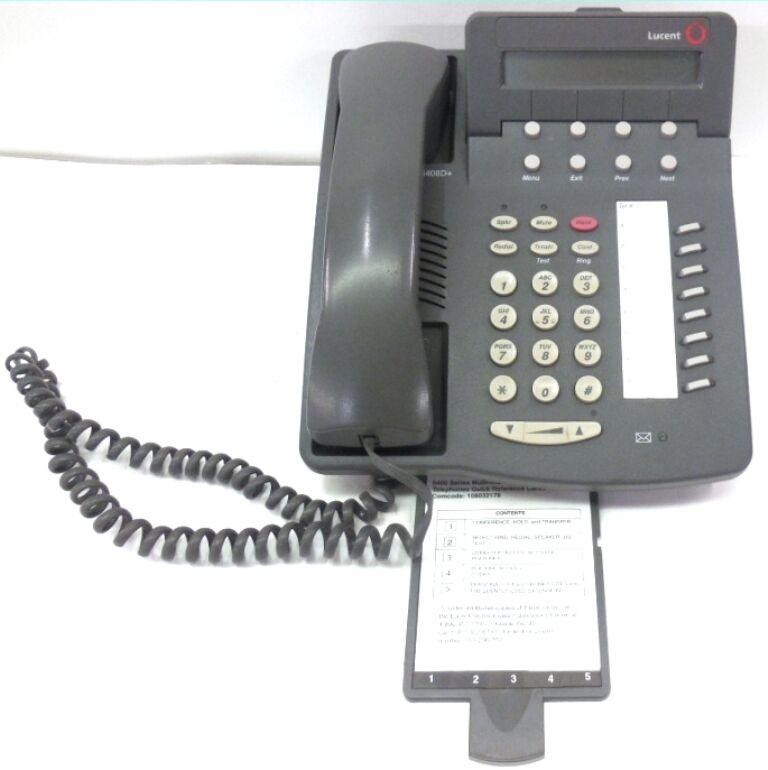 AVAYA INC, LUCENT,  6400 SERIES,  TELEPHONES, 6408D+, LOT OF 10, USED