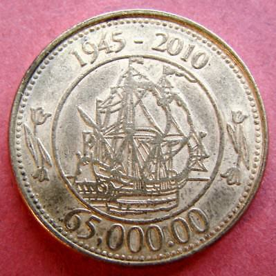NETHERLAND COLLECTABLE  TOKEN 65th ANNIVERSARY OF BAKKER - HOLLAND 1945 - 2010