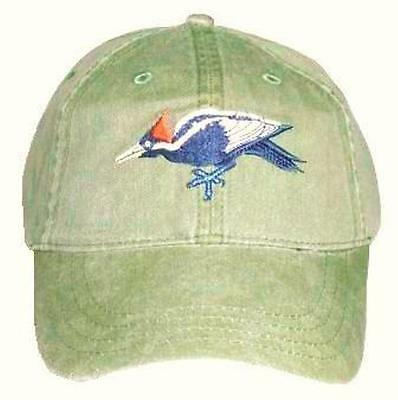 Ivory Billed Woodpecker  Embroidered Cotton Cap Hat Bird Ornithology