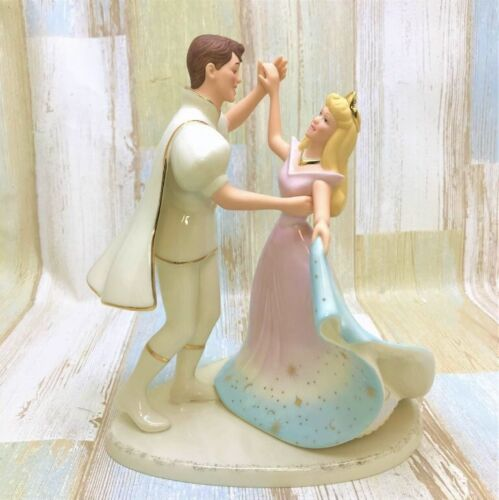 Disney Sleeping Beauty Princess Aurora and Prince phillip Figurine Lenox Once Up