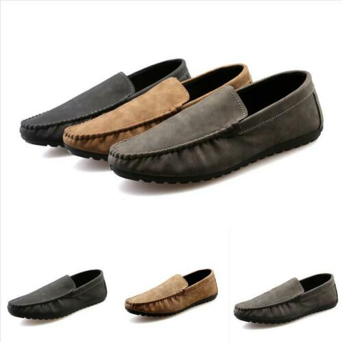Men/'s Casual Slip On Loafers Moccasins Soft Flat Driving Boat Shoes Sz Hot NEw