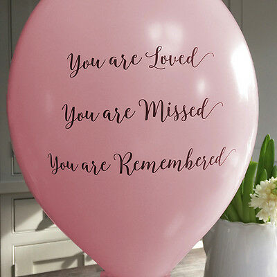 Angel & Dove 25 Pale Pink 'You Are Loved' Biodegradable Latex Funeral Balloons - Are Balloons Latex