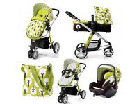 Cosatto Giggle Treet Pram 3-in-1 Travel System Pushchair