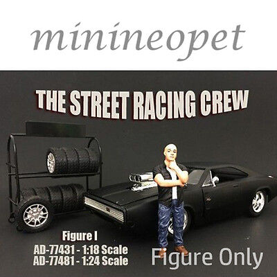 AMERICAN DIORAMA 77431 THE STREET RACING CREW FOR 1/18 MODEL CAR FIGURE I