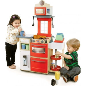 Little Tikes Cook 'N Store Kitchen Red Playset