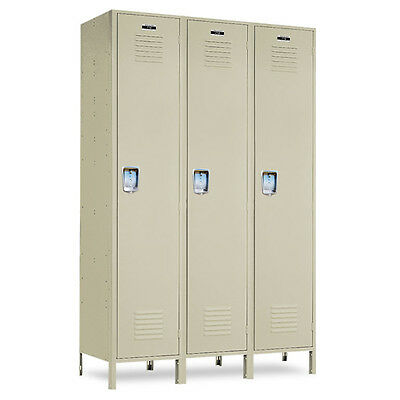 Single-tier Metal School Lockers 36w X 15d X 72h-78h Wlegs - 3 Openings