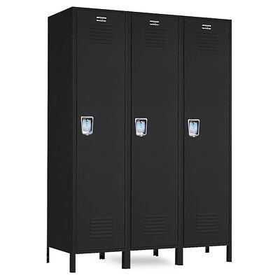 Metal Single-tier Jorgenson Lockers 36w X 18d X 72h-78h Wlegs - 3 Openings