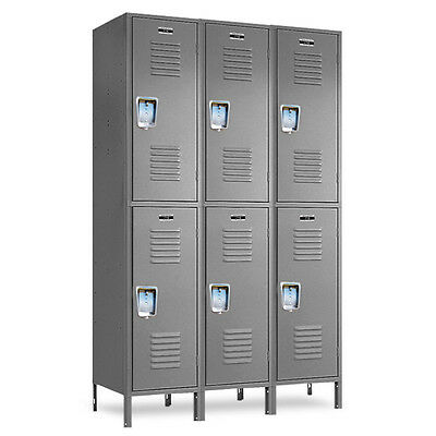 Double-tier School Metal Lockers 36w X 18d X 3672h - 6 Openings A Set