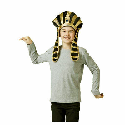 Egyptian Royal headpiece Pharaoh Queen Cleopatra Costume Fancy Dress Hat Crown