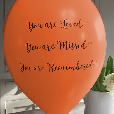Angel & Dove 25 Orange 'You Are Loved' Biodegradable Latex Funeral Balloons - Are Balloons Latex