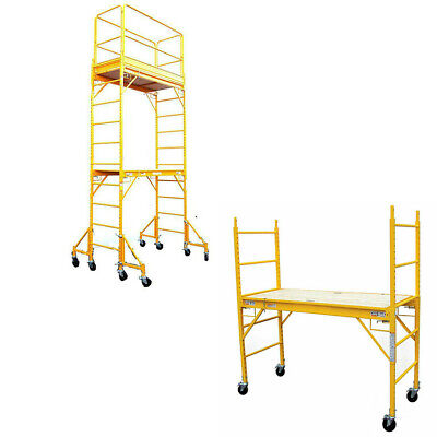 Multi Use Set Rolling Drywall Scaffolding Scaffold Guard Outriggers 12x 6x 29