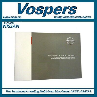 Genuine Nissan All Models Blank Service Book / Maintenance Record 9999901NWB