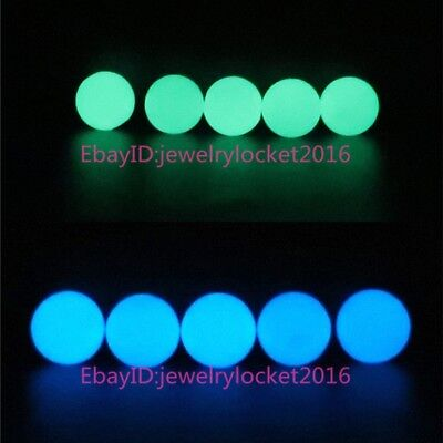 Glow In the dark Loose Plastic Beads 8mm Luminous Beads Green Blue Color - Glow In The Dark Plastic Beads