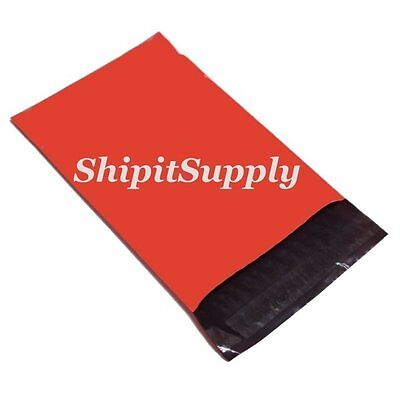 1-1000 6x9 Red Color Poly Mailers Shipping Boutique Bags Fast Shipping