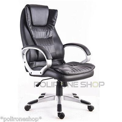Poltrona sedia per ufficio presidenziale studio da x pc scrivania economica casa
