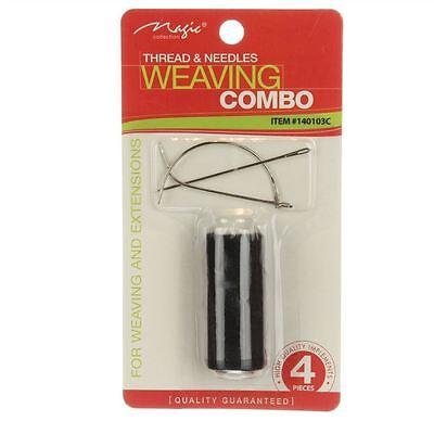 Nadel und Faden für Echthaartressen Weaving Haarverlängerung Extensiions