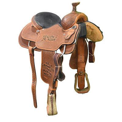 5 Miniature Display Black Saddle with Teal Buckstitch