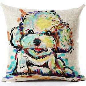 Brand New- Artsy- Poodle Dog Decorative Pillow Cover