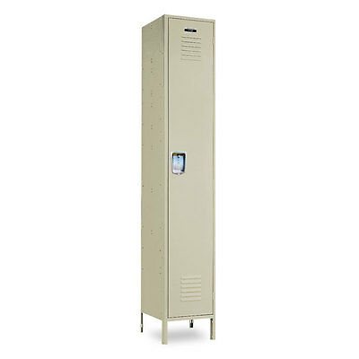Metal Single-tier School Locker 12w X 12d X 72h-78h Wlegs - 1 Opening