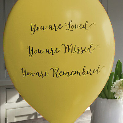 Angel & Dove 25 Yellow 'You Are Loved' Biodegradable Latex Funeral Balloons - Are Balloons Latex