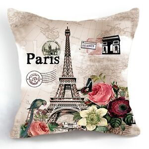 Retro-Vintage-Paris-Eiffel-Tower-Home-Decorative-Pillow-Case-Cushion-Cover-18