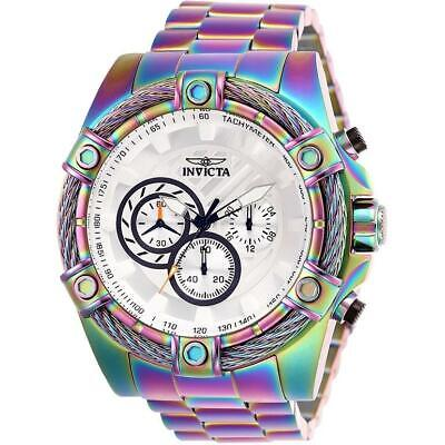 Invicta Bolt 25520 Men's Round White Chronograph Heat Treated Analog Watch