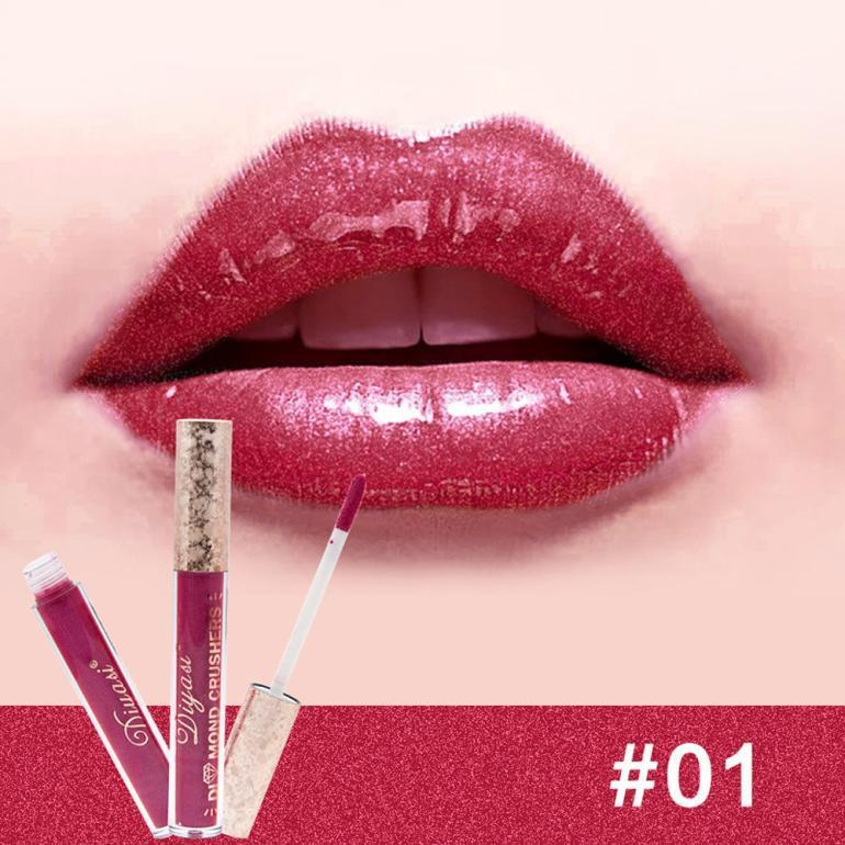 Waterproof Liquid Lipstick Lipgloss Moisturizing Diamond Lip Gloss Long Lasting